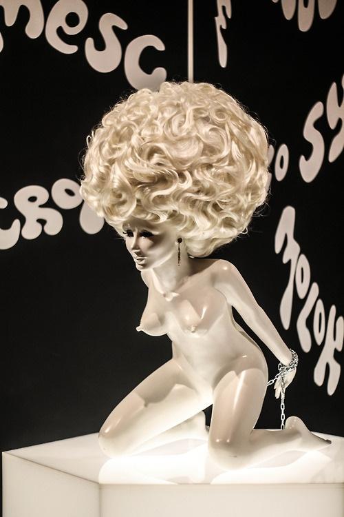 Stanley Kubrick exhibit at LACMA: A Clockwork Orange milk bar statue