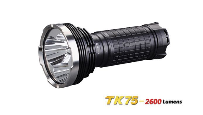 With the Fenix TK75, four 18650 rechargeable cells are stunningly transformed into 2600 lumen max output. Throwing606mwith an 80-degree plus beam angle lets the TK75 light up extended terrain. On high at 1100 lumens, this compact Fenix flashlight pushes for four hours while the 400-lumen level stays the course at 12 hours runtime.  #hidcanada