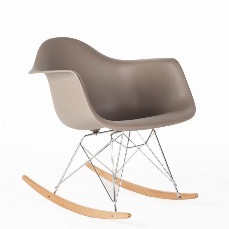 RAR Molded Plastic Rocking Chair - Grey 1 Mid Century Rocking Chair  http://www.franceandson.com/mid-century-modern-rar-molded-plastic-rocking-chair-grey.html