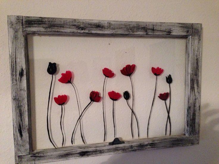 Flowers windows - my friend is super crafty!