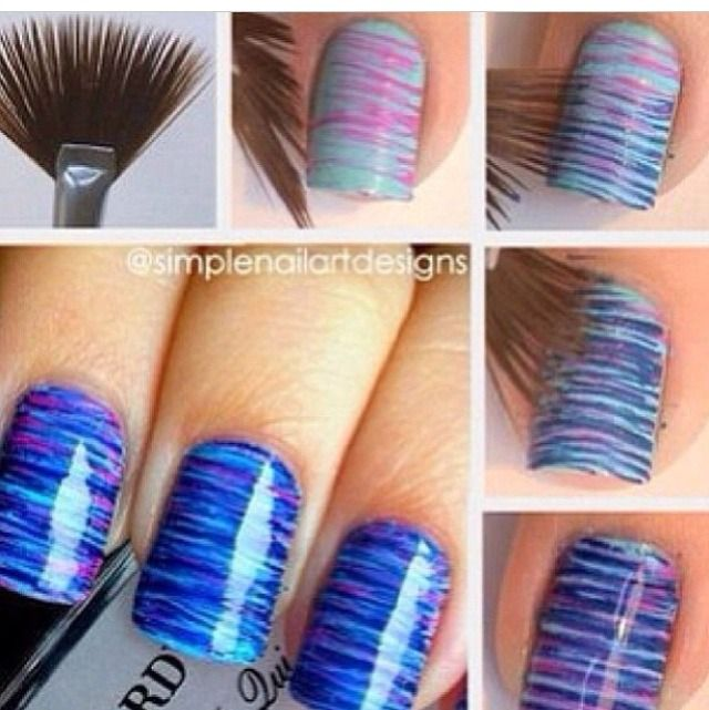 Striped Nail Art DIY || I am SO doing this!