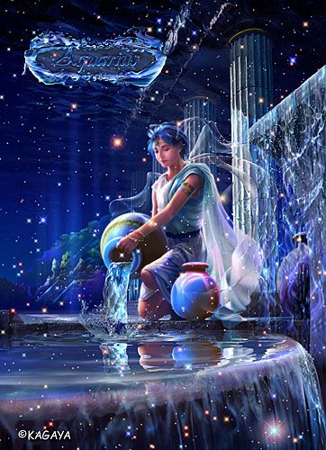 Aquarius/ Acuario, the water bearer