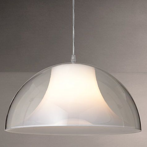 Buy House by John Lewis Morf Acrylic Dome Pendant, Clear Online at johnlewis.com £80