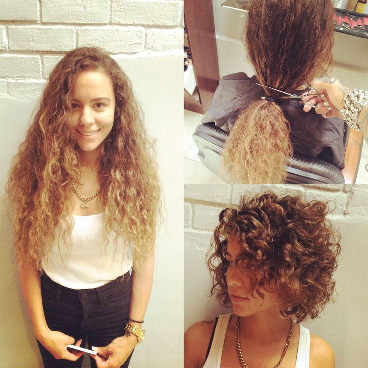 Curly before after at shades salon beverly hills cut me for Curly hair salon uk