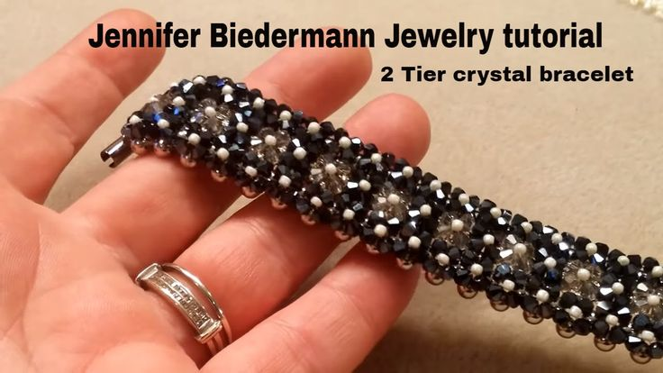 2 tier crystal bracelet tutorial