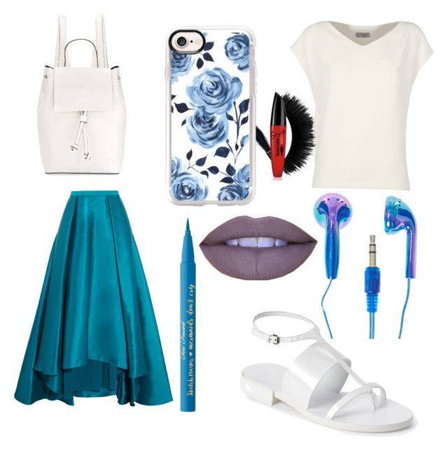 """""""Blue"""" by izzyfifteen on Polyvore featuring Badgley Mischka, Alberto Biani, Jil Sander, French Connection, Casetify, Jeffree Star and Too Faced Cosmetics"""