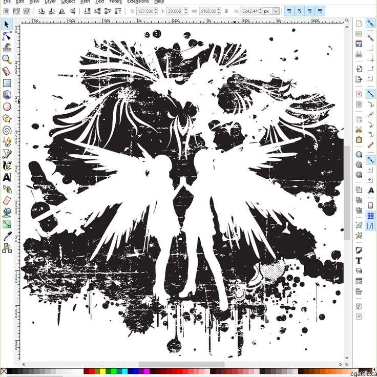 Inkscape is a free drawing software that is focused on vector type files for cartoons, technical drawings, logos, and other commercial use.