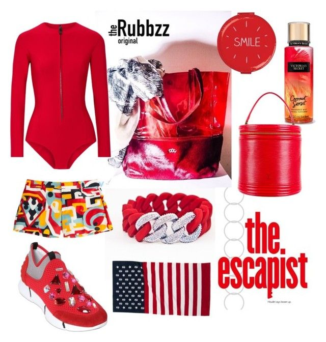 Surf in red! With the Rubbzz original silicon band and 2016' beaded links. Tote…
