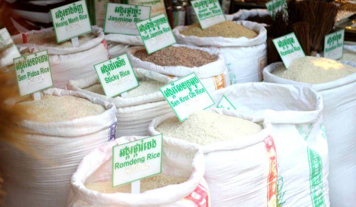 Old Market, Rijstzakken. Cambodja, Siem Reap- Travelhype