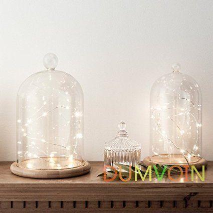 DUMVOIN Silberdraht LED Lichterkette Batteriebetrieben LED Dekoration (30 LEDs, Warmweiß, 10ft, 3xAA Batterien)
