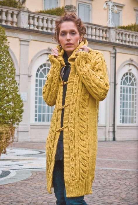 Вязание пальто Yellow Coat из коллекции Filatura Di Crosa - Zara Family.. Обсуждение на LiveInternet - Российский Сервис Онлайн-Дневников