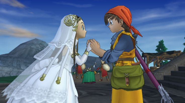Dragon Quest VIII: Journey of the Cursed King scene with Hero and Medea - X C