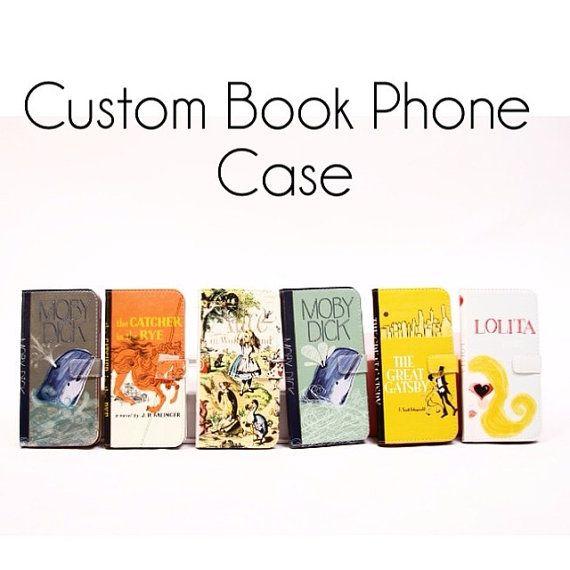 Book phone /iPhone flip Wallet case-Custom by chicklitdesigns