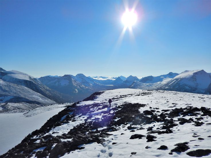 On our way down from Mount Spiterhøe (2033), Norway, last weekend. Beautiful weather this day.