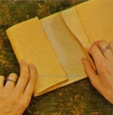 Quieres hacer una cartera de cuero fácil y sencilla.- Manualidades cuero.