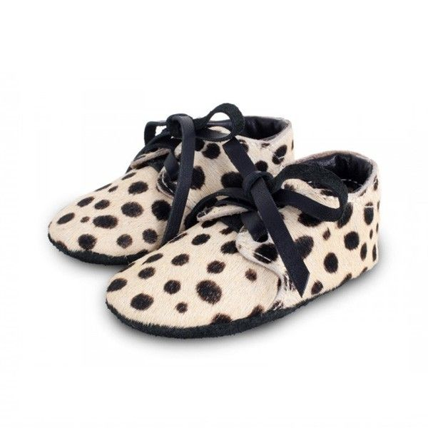 Safari Baby booties exclusive dalmatian black white by Donsje