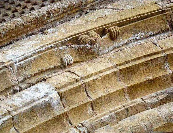 A little medieval humour: Abbey of Sainte Foy, Conques, c1050.