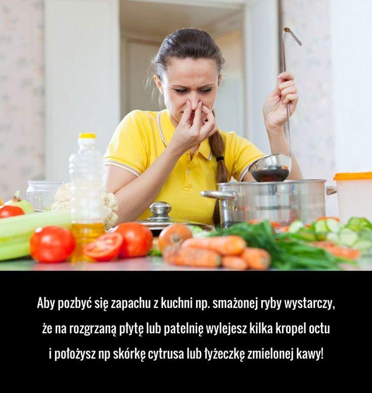 Aby pozbyć się zapachu z kuchni np. smażonej ryby wystarczy, że na rozgrzaną płytę lub patelnię wylejesz kilka kropel octu ...