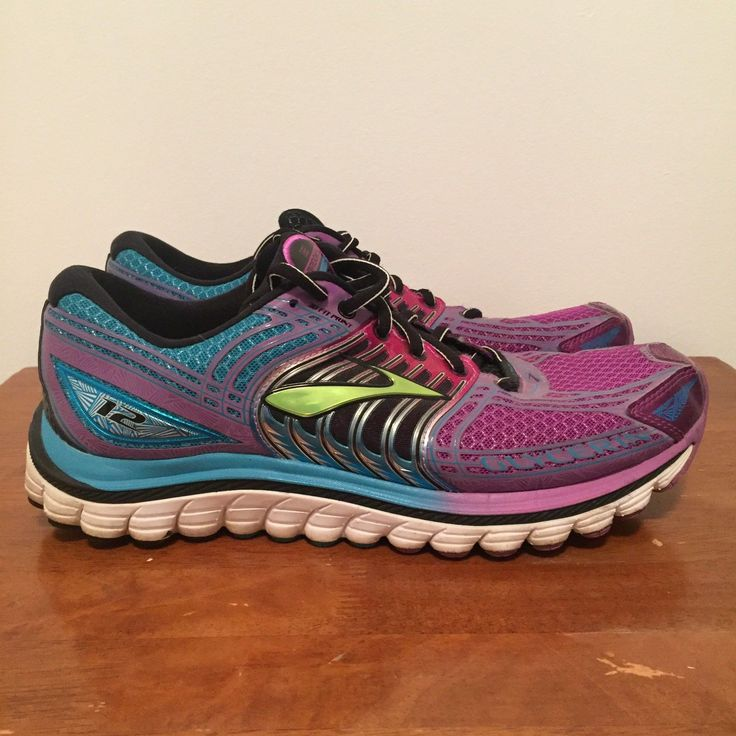 Brooks 12 Glycerin Running Trainers Shoes Sneakers Purple Blue US 10.5 EUR 42.5 | eBay