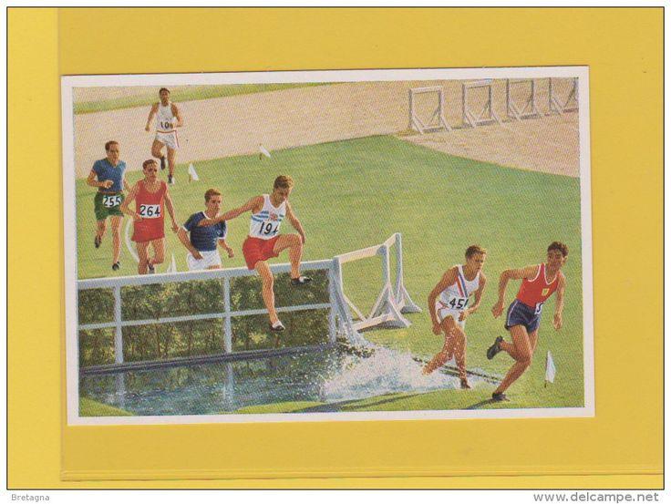image jeux olympiques de 1932 - 3000 mètres obstacle en cours d´exécution , Flux, Evenson (Angleterre) a gagné en 9.18,8