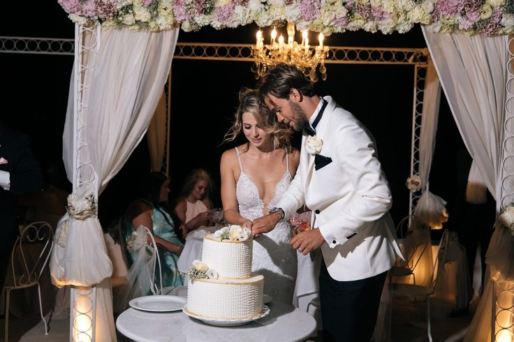 Cake Cutting, Style, Joy, Happy, Art, Design, Tasteful, In Love, Bride And Groom, Santorini Weddings