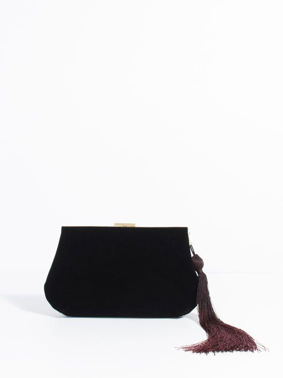 Velvety Clutch, Black
