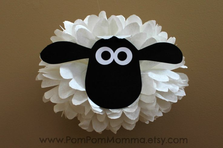 Shaun the Sheep Inspired Character Pom by PomPomMomma on Etsy, $10.00