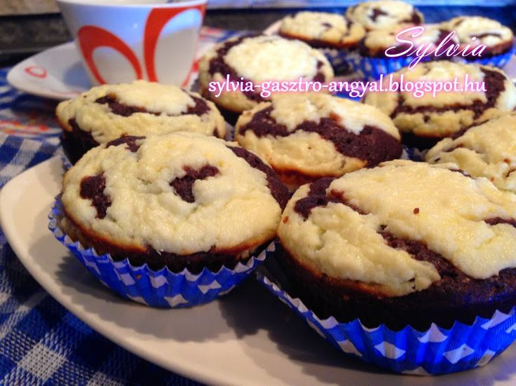 Sylvia Gasztro Angyal: Túrós-kakaós muffin