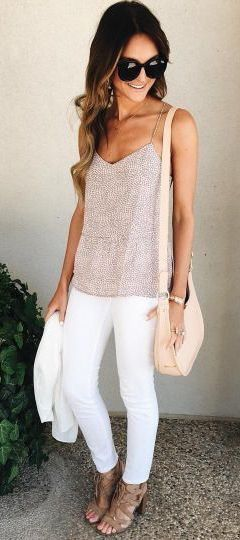 love these colors. I would like to try white pants. I know I said no spaghetti straps, but if you had something like this top, I would love it!