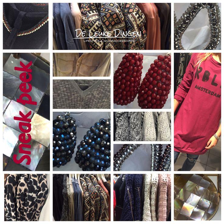 Met veel plezier hebben wij weer leuke nieuwe dingen geselecteerd! #Jasjes #truien #oorbellen #blousen #shirtjes #sweaters #vesten #jurkjes www.deleukedingen.nl