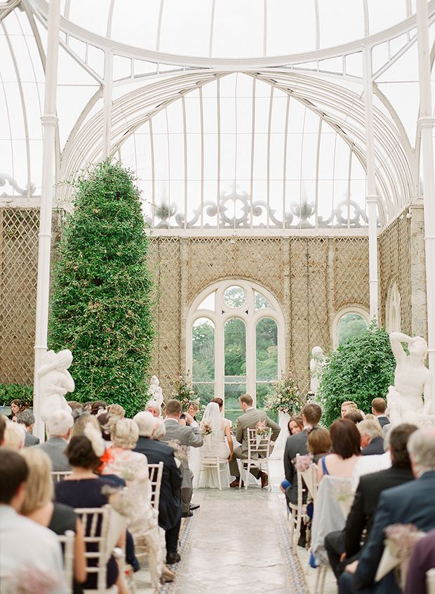 wedding ceremony in The Orangery, Killruddery House  by Brosnan Photographic | onefabday.com