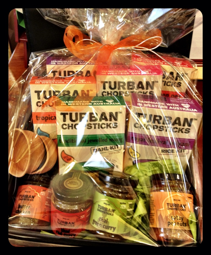 A gift basket of goodies from Turban Chopsticks, Bulwer Street, Perth (next to Frank Torres nr Fitzgerald St)
