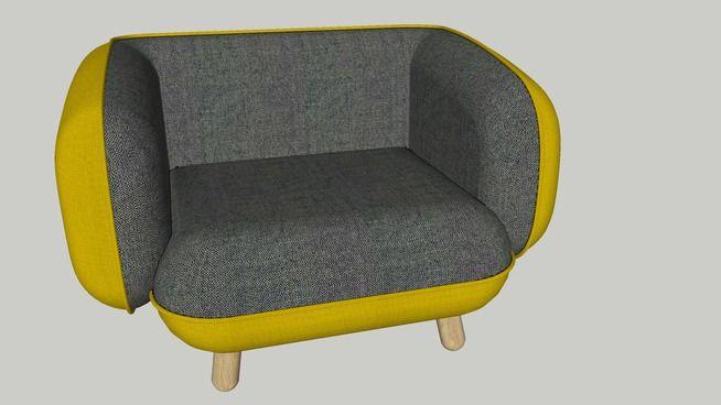 Basset Chair by Versus - 3D Warehouse