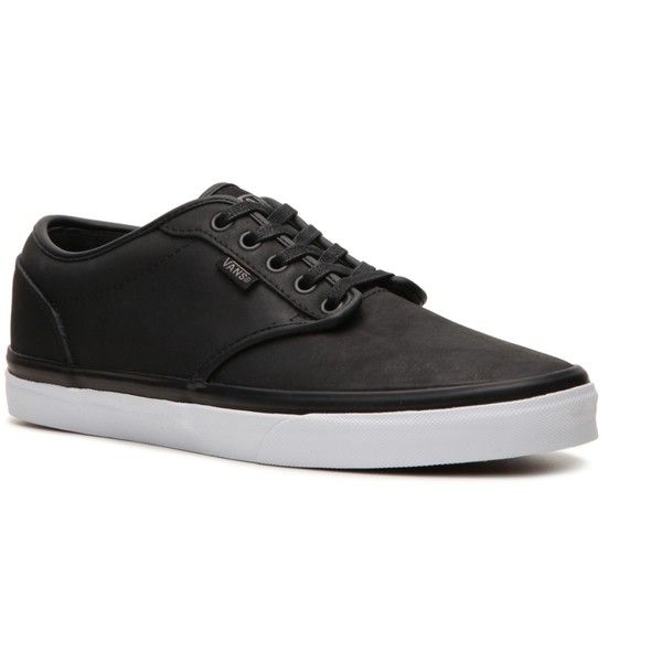 Vans Atwood Leather Sneaker - Mens (160 BRL) ❤ liked on Polyvore featuring shoes, sneakers, men, mens shoes, sapatos, low-top vans, vans sneakers, leather sneakers, low profile sneakers and leather shoes