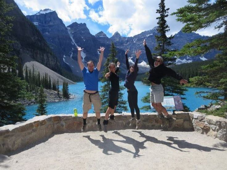 The Valley of the Ten Peaks over Moraine Lake. | 14 Sites In Alberta That Will Make You Feel Alive