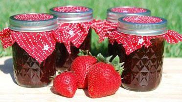 Aardbeienconfituur met stevia