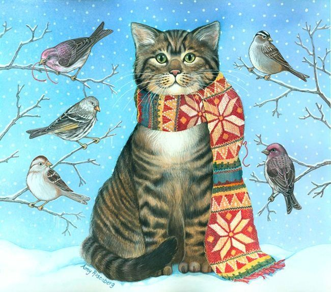 Amy Rosenberg Cat With Scarf