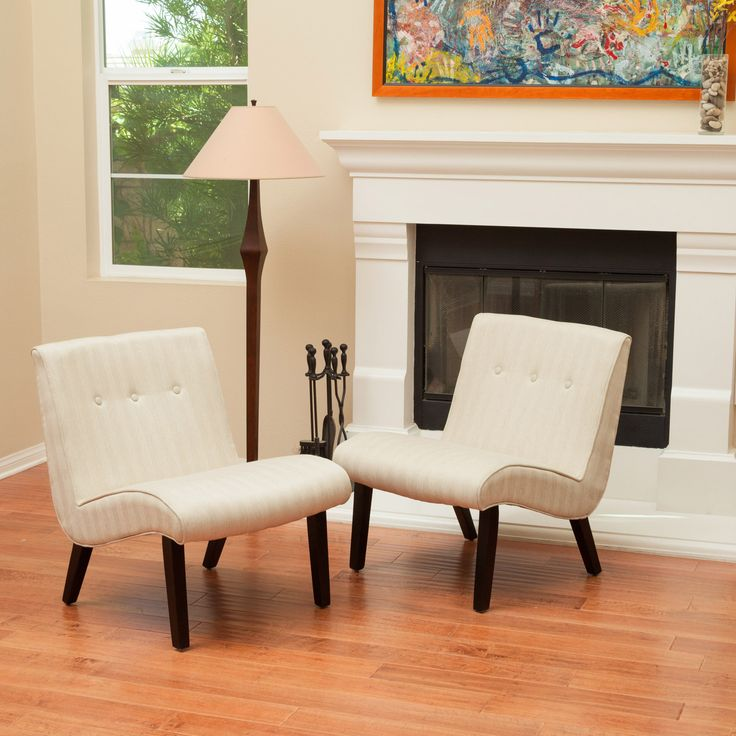 #ad Oksana Oatmeal Beige Slipper Chairs (Set of 2)  The Oksana Slipper Chairs make perfect accent chairs for any room in your home. With their low and curved design, these chairs are inviting and can be grouped together or set apart. The gathered tufting along the back of the chair and slope design gives  http://www.shareasale.com/m-pr.cfm?merchantID=69984&userID=1079412&productID=689114659