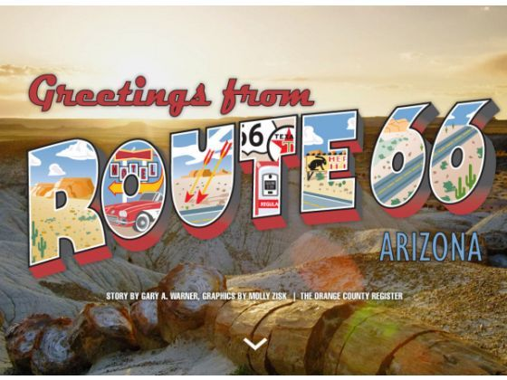 Arizona Route 66 postcard