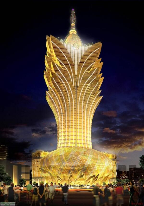 Hotel grand lisboa macau china travel china for 7047 design hotel