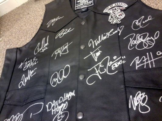 Sons of Anarchy Cast Signed Leather
