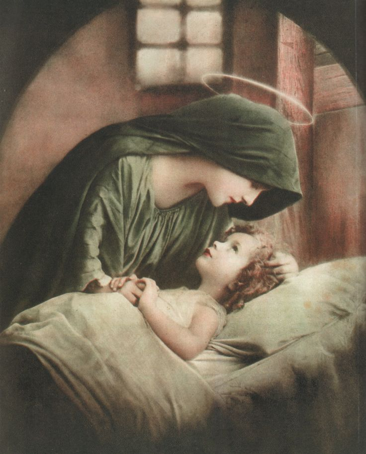 EL NIÑO JESÚS, ES MUY OBEDIENTE, AMA A SU PAPÁ JOSÉ, Y A SU MAMÁ, LA VIRGEN MARÍA, CON TODO SU CORAZÓN . ANTES DE DORMIRSE REZA SUS ORACIONES, Y SE DUERME TRANQUILO, CON LOS BESOS DE SU MAMÁ.