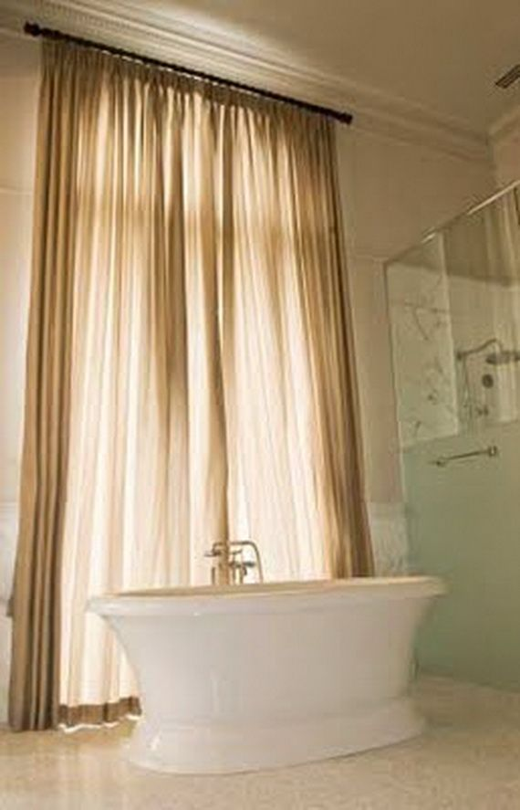 Modern Bathroom Window Curtain Ideas