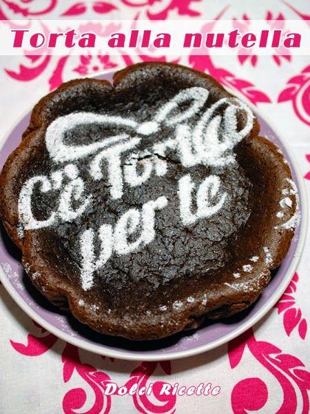 Torta alla #nutella #nutellacake