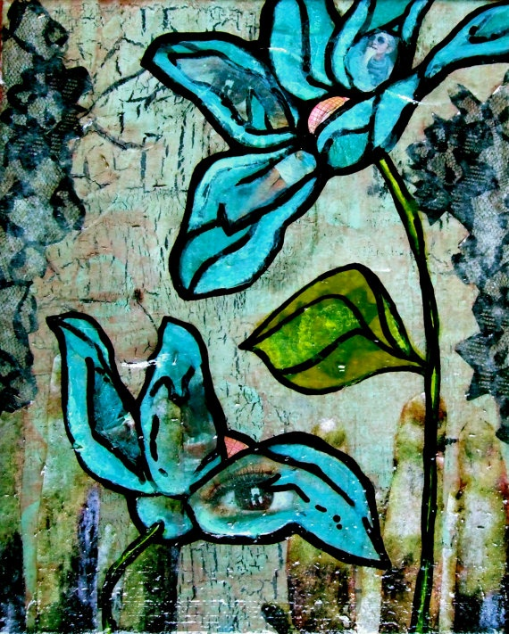 Original Art Acrylic Spring Lily Painting in by KatieHofackerArt, $65.00
