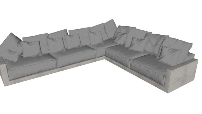 Large preview of 3D Model of Sofa L Minotti