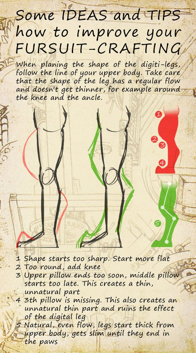 How to improve your fursuit-crafting - Legs by FurForge on deviantART                                                                                                                                                                                 More