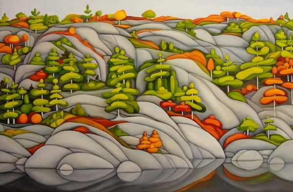 "Muskoka 24"" by 36"" Oil on Canvas by Deb Gibson"