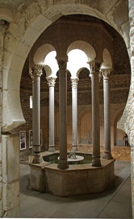 Girona. Banys Arab Baths - The oldest date of the Baths' existence dates back to…