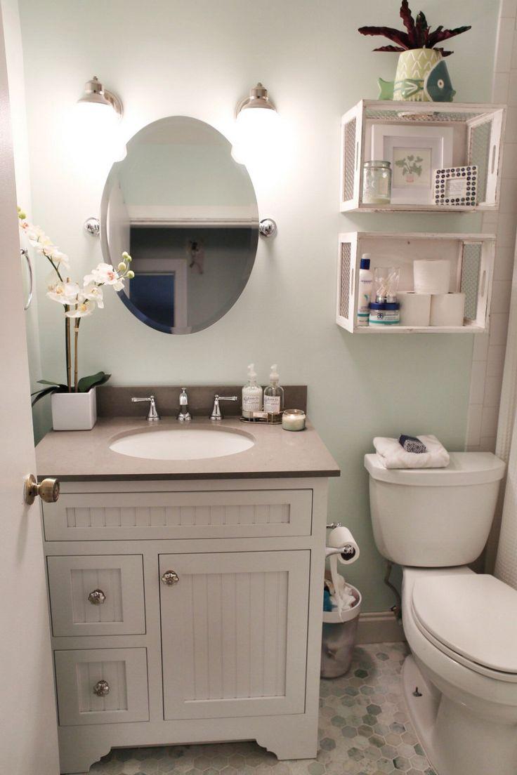 Bathroom storage ideas for small bathrooms - 99 Small Master Bathroom Makeover Ideas On A Budget 32